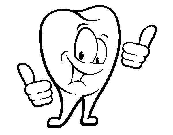 Desenho de Dente são para Colorir