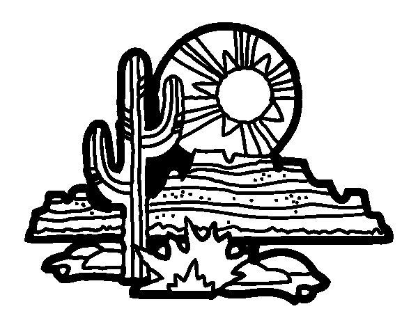 Desenho de Deserto do Colorado para Colorir
