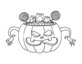 Desenho de Doces do Halloween para colorear
