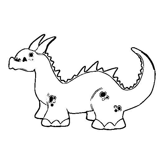 Desenho de Dragão bebé para Colorir - Colorir.com