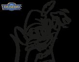 Desenho de Dumbo - Rato timóteo para colorear