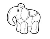 Desenho de Elefante de pano para colorear
