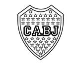Desenho de Emblema do Boca Juniors para colorear