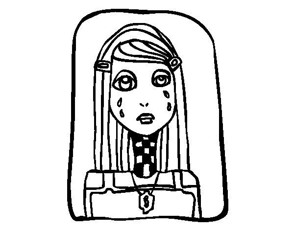 Desenho de Emo chorando para Colorir
