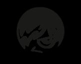 Desenho de Emoticon Emo para colorear