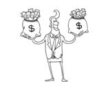 Desenho de Empresário corrupto para colorear