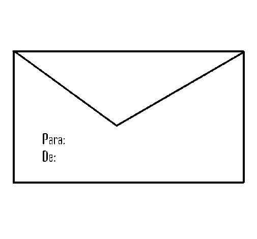 Desenho de Envelope para Colorir