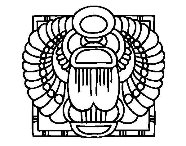 Desenho de Escaravelho-sagrado para Colorir