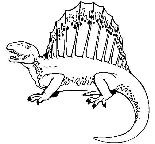 Desenho de Espinossauro para Colorir