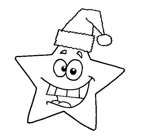Desenho de Estrela de natal para Colorir