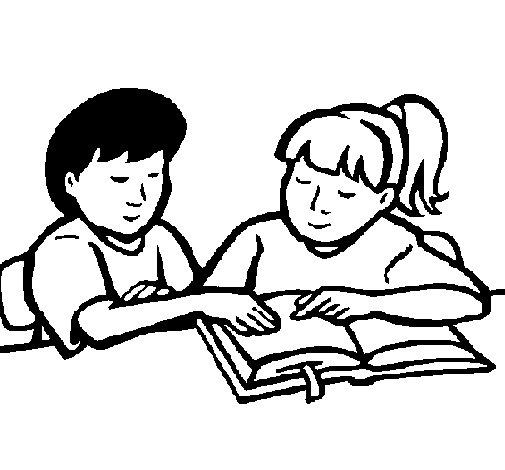 Desenho de Estudantes para Colorir