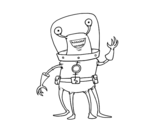 Desenho de Extraterrestre quatro pernas para colorear