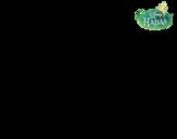 Desenho de Fadas Disney - Fawn saudando para colorear