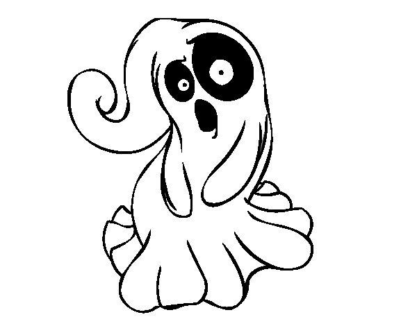Desenho de Fantasma assustador para Colorir