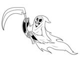 Desenho de Fantasma da morte para colorear
