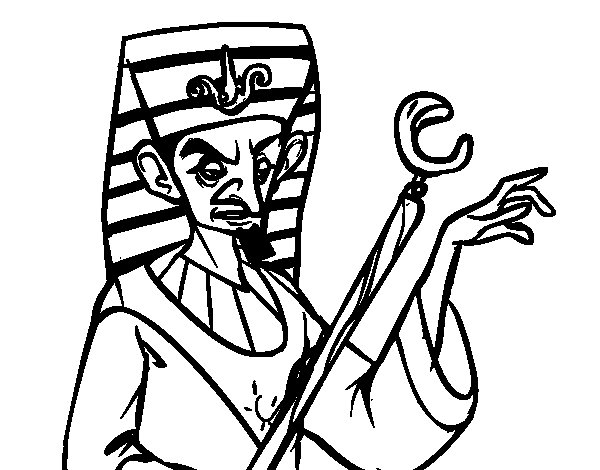 Desenho de Faraó aborrecido para Colorir