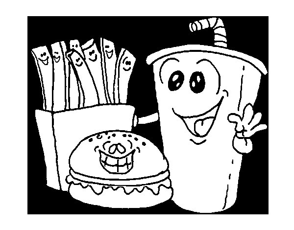 Desenho de Fast-food para Colorir