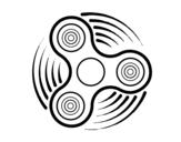 Desenho de Fidget spinner para colorear