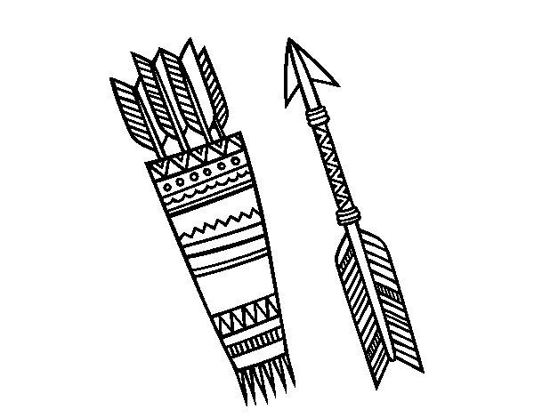 Desenho de Flechas indianas para Colorir