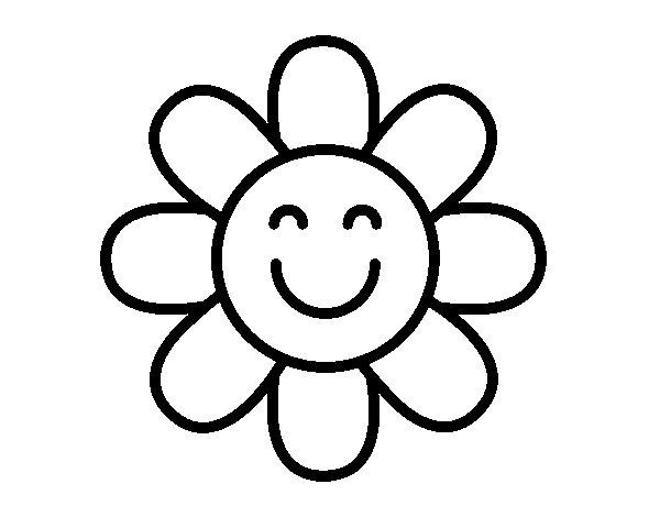 Desenho De Flor Simples Para Colorir Colorir