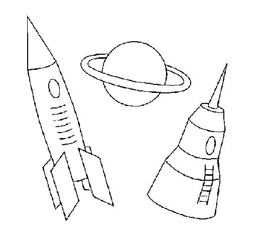 Desenho de Foguete para Colorir