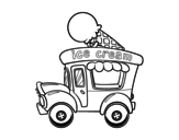 Desenho de Food truck de sorvete para colorear