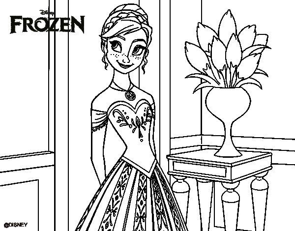 Desenho De Frozen Princesa Anna Para Colorir