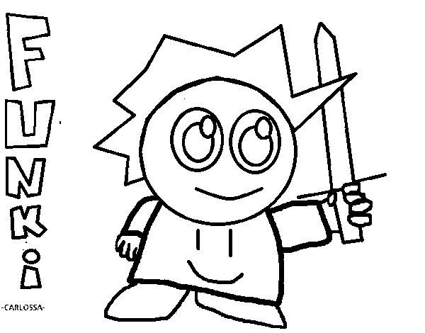 Desenho de Funki para Colorir