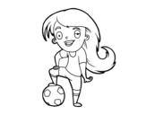 Dibujo de Futebol feminino