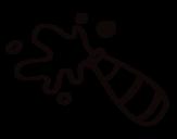 Dibujo de Garrafa de Champagne