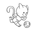 Dibujo de Gato futebol
