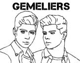 Desenho de Gemeliers - Mil y una noches para colorear