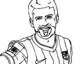 Desenho de Gerard Piqué para colorear
