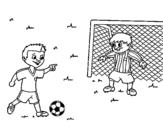 Desenho de Goleiro de futebol para colorear