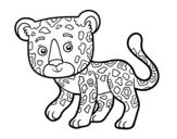 Desenho de Guepardo jovem para colorear