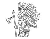 Dibujo de Guerreiro asteca