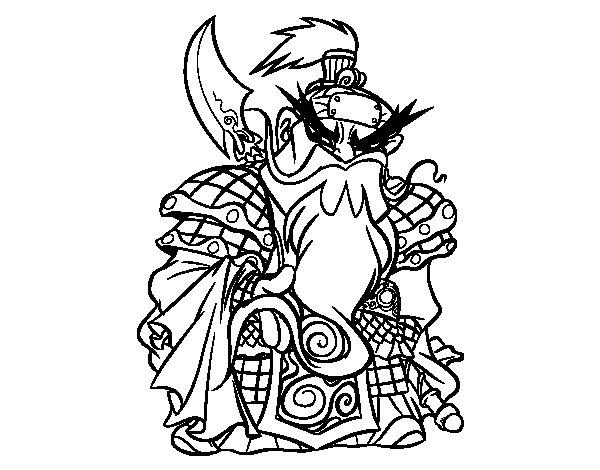 Desenho de Guerreiro chinês Guan Yu para Colorir