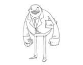 Desenho de Homem de grandes punhos para colorear