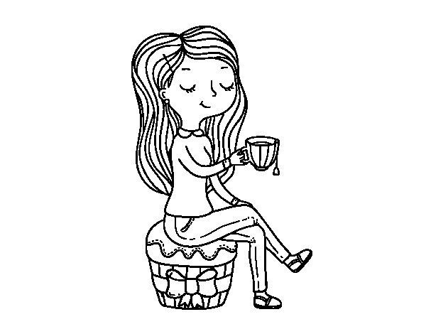 Desenho de Hora do chá para Colorir