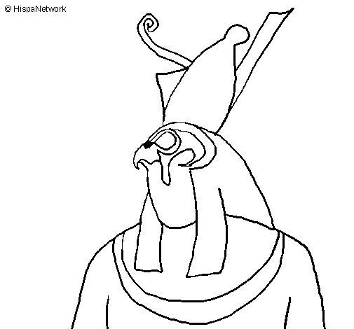 Desenho de Horus para Colorir