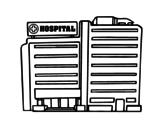 Desenho de Hospital para colorear