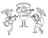 Desenho de I Mariachi para colorear