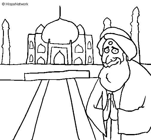 Desenho de Índia para Colorir