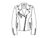 Desenho de Jaqueta de couro para colorear