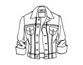 Desenho de Jaqueta jeans para colorear