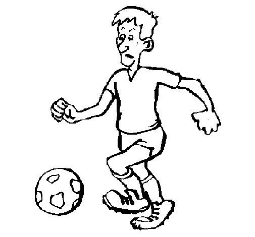 Desenho de Jogador de futebol para Colorir
