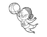 Dibujo de Jogador de voleibol