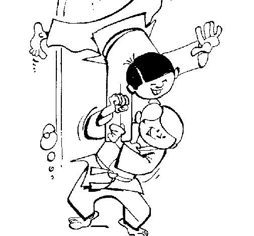 Desenho de Judo para Colorir