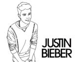 Desenho de Justin Bieber para colorear