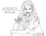 Desenho de Karol Sevilla de Soy Luna para colorear